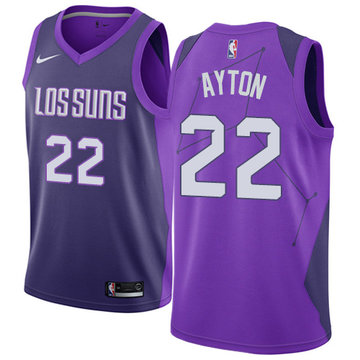Nike Suns #22 Deandre Ayton Purple NBA Swingman City Edition Jersey