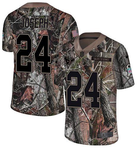 Nike Texans #24 Johnathan Joseph Camo Men's Stitched NFL Limited Rush Realtree Jersey