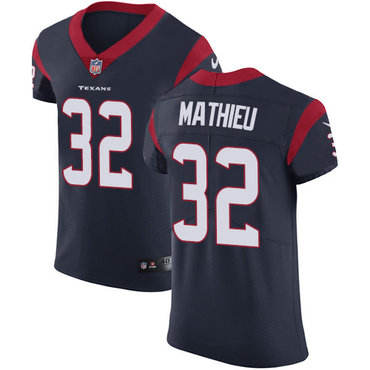 Nike Texans #32 Tyrann Mathieu Navy Blue Team Color Men's Stitched NFL Vapor Untouchable Elite Jersey