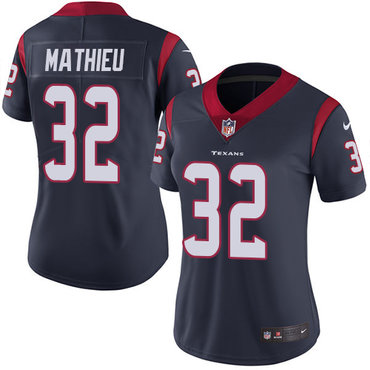Nike Texans #32 Tyrann Mathieu Navy Blue Team Color Women's Stitched NFL Vapor Untouchable Limited Jersey