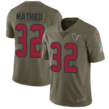 Nike Texans #32 Tyrann Mathieu Olive Youth Stitched NFL Limited 2017 Salute to Service Jersey