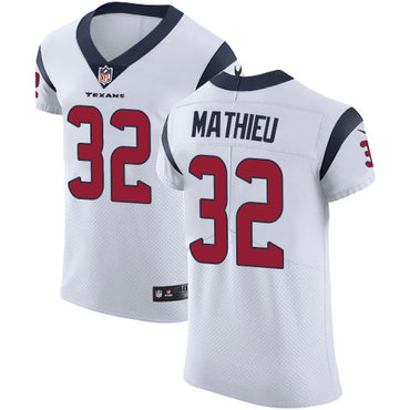 Nike Texans #32 Tyrann Mathieu White Men's Stitched NFL Vapor Untouchable Elite Jersey