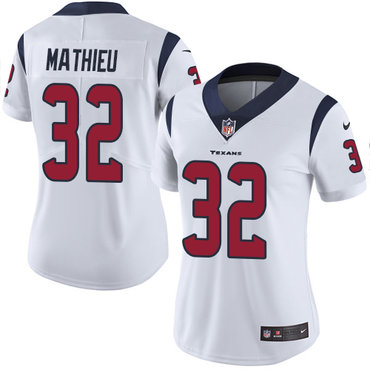 Nike Texans #32 Tyrann Mathieu White Women's Stitched NFL Vapor Untouchable Limited Jersey