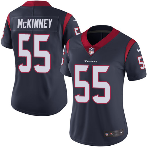 Nike Texans #55 Benardrick McKinney Navy Blue Team Color Women's Stitched NFL Vapor Untouchable Limited Jersey