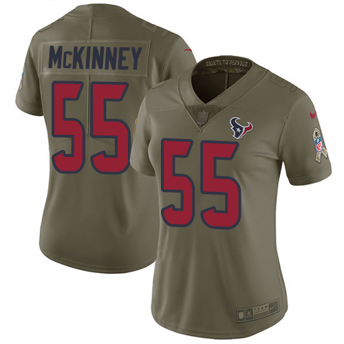 Nike Texans #55 Benardrick McKinney Olive Women's Stitched NFL Limited 2017 Salute to Service Jersey