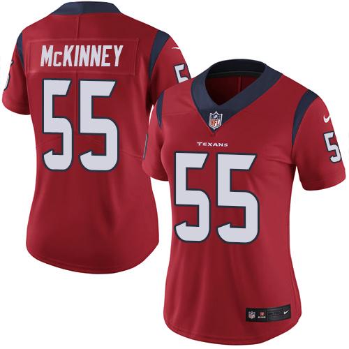 Nike Texans #55 Benardrick McKinney Red Alternate Women's Stitched NFL Vapor Untouchable Limited Jersey