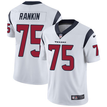 Nike Texans #75 Martinas Rankin White Men's Stitched NFL Vapor Untouchable Limited Jersey