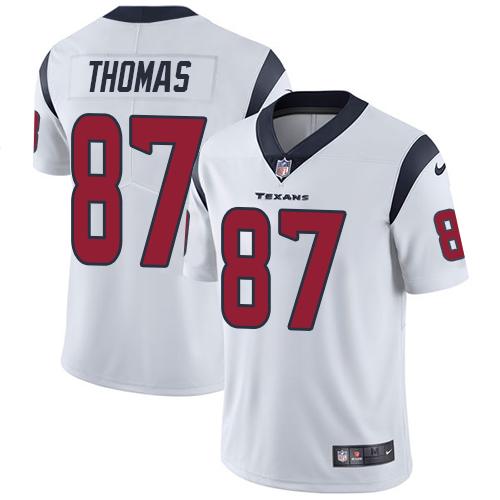 Nike Texans #87 Demaryius Thomas White Men's Stitched NFL Vapor Untouchable Limited Jersey