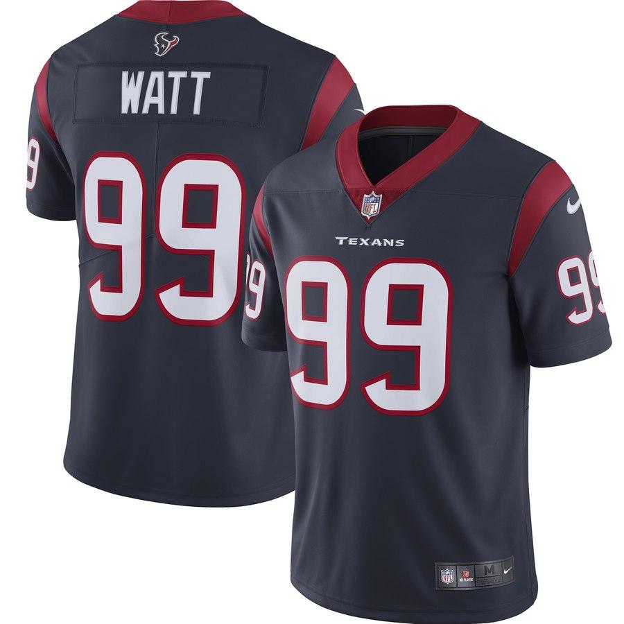 Nike Texans 99 J.J. Watt Navy New 2019 Vapor Untouchable Limited Jersey