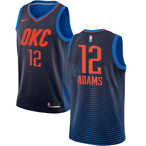 Nike Thunder #12 Steven Adams Navy Blue NBA Swingman Statement Edition Jersey