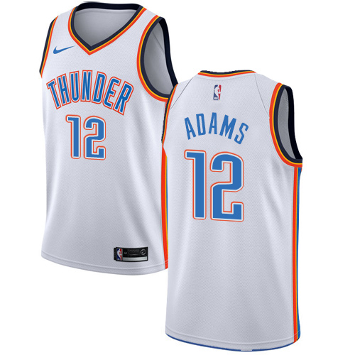 Nike Thunder #12 Steven Adams White NBA Swingman Association Edition Jersey