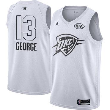 Nike Thunder #13 Paul George White Youth NBA Jordan Swingman 2018 All-Star Game Jersey