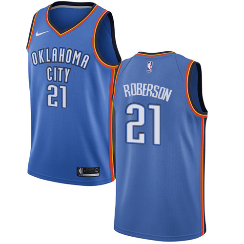 Nike Thunder #21 Andre Roberson Blue NBA Swingman Icon Edition Jersey
