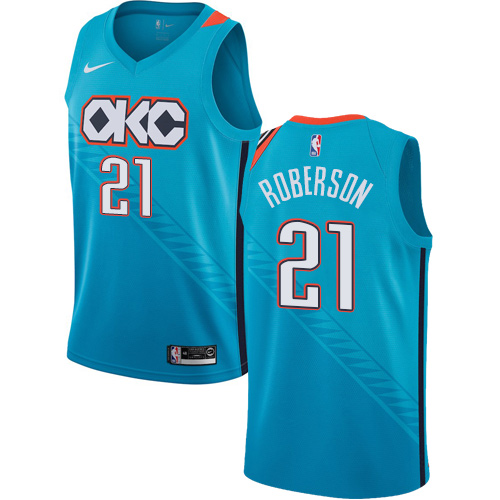 Nike Thunder #21 Andre Roberson Turquoise NBA Swingman City Edition 2018 19 Jersey