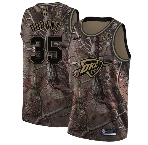 Nike Thunder #35 Kevin Durant Camo Women's NBA Swingman Realtree Collection Jersey