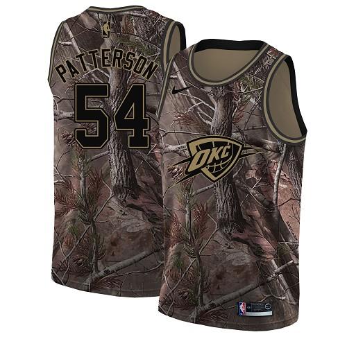 Nike Thunder #54 Patrick Patterson Camo Women's NBA Swingman Realtree Collection Jersey