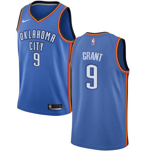 Nike Thunder #9 Jerami Grant Blue NBA Swingman Icon Edition Jersey