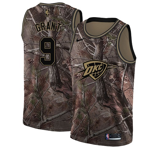 Nike Thunder #9 Jerami Grant Camo NBA Swingman Realtree Collection Jersey