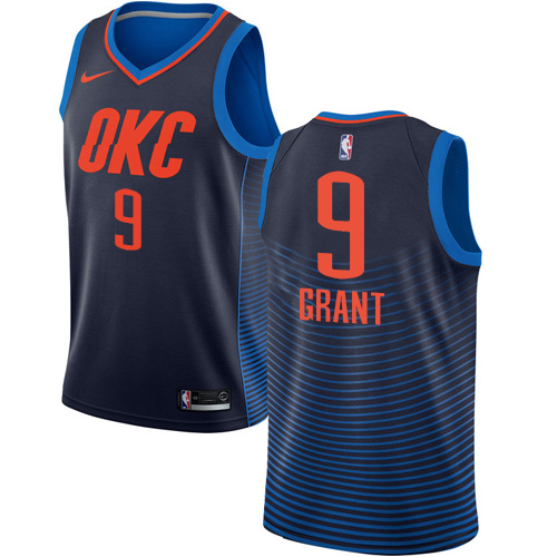 Nike Thunder #9 Jerami Grant Navy Blue NBA Swingman Statement Edition Jersey