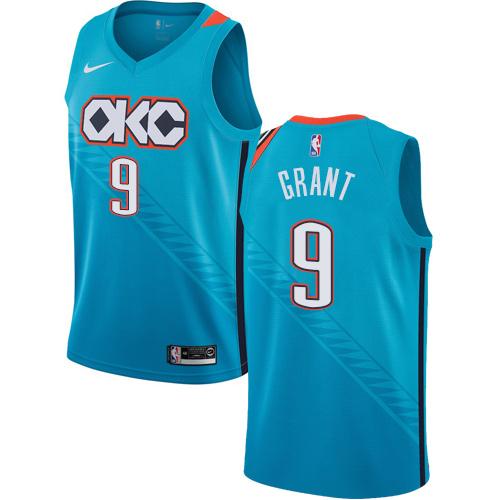 Nike Thunder #9 Jerami Grant Turquoise NBA Swingman City Edition 2018 19 Jersey