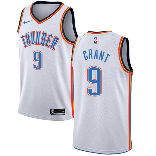 Nike Thunder #9 Jerami Grant White NBA Swingman Association Edition Jersey