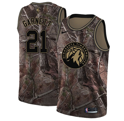 Nike Timberwolves #21 Kevin Garnett Camo Youth NBA Swingman Realtree Collection Jersey