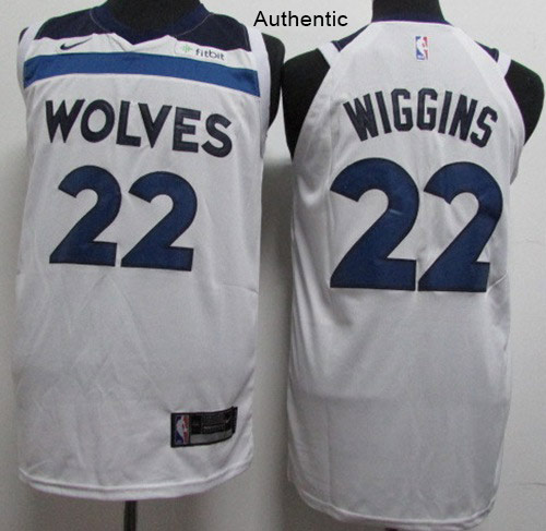 Nike Timberwolves #22 Andrew Wiggins White NBA Authentic Association Edition Jersey