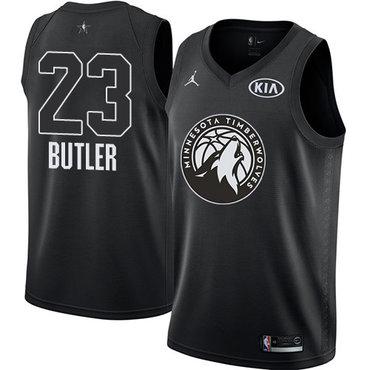 Nike Timberwolves #23 Jimmy Butler Black Youth NBA Jordan Swingman 2018 All-Star Game Jersey