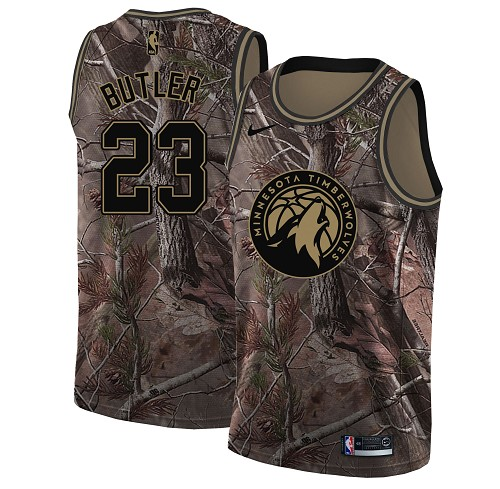 Nike Timberwolves #23 Jimmy Butler Camo Youth NBA Swingman Realtree Collection Jersey