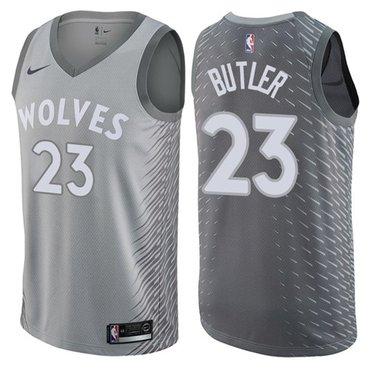 Nike Timberwolves #23 Jimmy Butler Gray NBA Swingman City Edition Jersey
