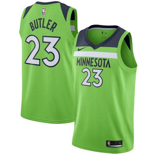 Nike Timberwolves #23 Jimmy Butler Green NBA Swingman Statement Edition Jersey