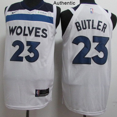 Nike Timberwolves #23 Jimmy Butler White NBA Authentic Association Edition Jersey
