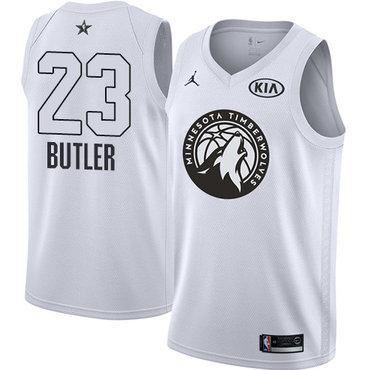 Nike Timberwolves #23 Jimmy Butler White Youth NBA Jordan Swingman 2018 All-Star Game Jersey