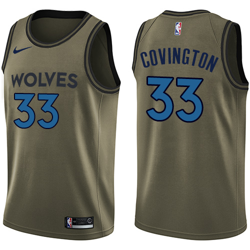 Nike Timberwolves #33 Robert Covington Green NBA Swingman Salute to Service Jersey