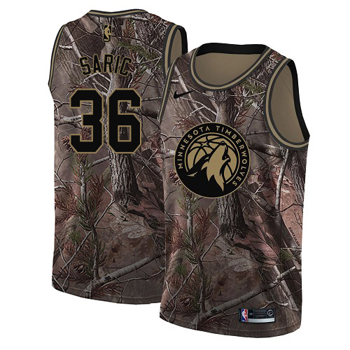 Nike Timberwolves #36 Dario Saric Camo NBA Swingman Realtree Collection Jersey