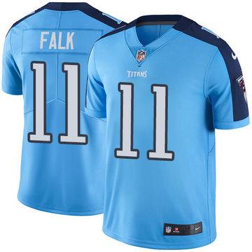 Nike Titans #11 Luke Falk Light Blue Men's Stitched NFL Limited Rush Jersey