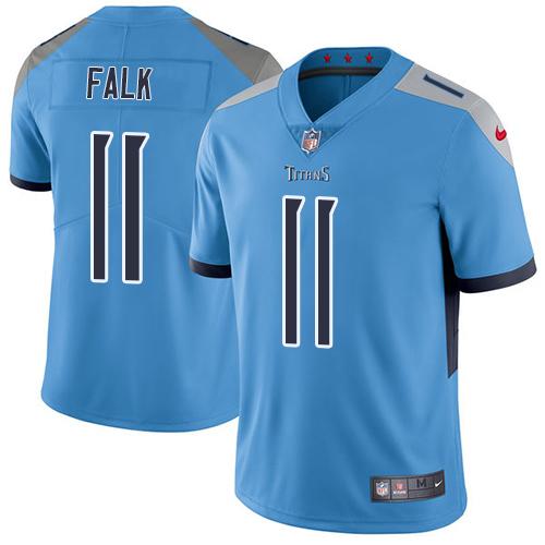 Nike Titans #11 Luke Falk Light Blue Team Color Men's Stitched NFL Vapor Untouchable Limited Jersey