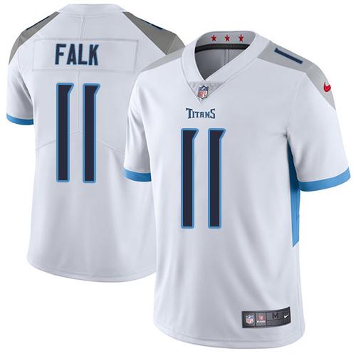 Nike Titans #11 Luke Falk White Men's Stitched NFL Vapor Untouchable Limited Jersey