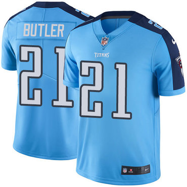 Nike Titans #21 Malcolm Butler Light Blue Men's Stitched NFL Limited Rush Jersey