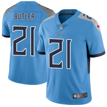 Nike Titans #21 Malcolm Butler Light Blue Team Color Youth Stitched NFL Vapor Untouchable Limited Jersey