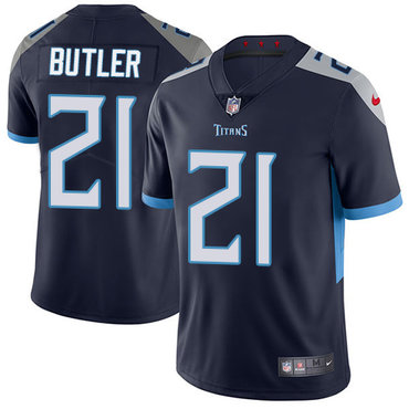 Nike Titans #21 Malcolm Butler Navy Blue Alternate Youth Stitched NFL Vapor Untouchable Limited Jersey