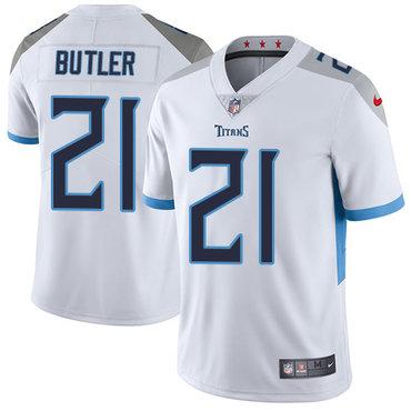 Nike Titans #21 Malcolm Butler White Men's Stitched NFL Vapor Untouchable Limited Jersey