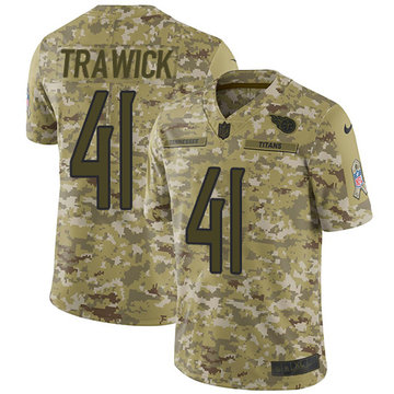 Nike Titans #41 Brynden Trawick Camo Youth Stitched NFL Limited 2018 Salute to Service Jersey