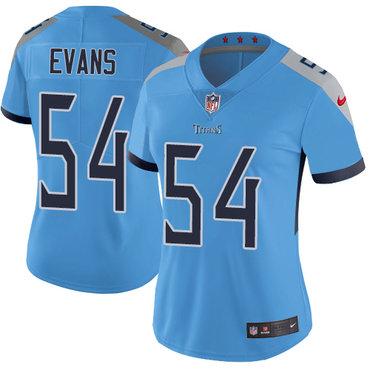 Nike Titans #54 Rashaan Evans Light Blue Team Color Women's Stitched NFL Vapor Untouchable Limited Jersey