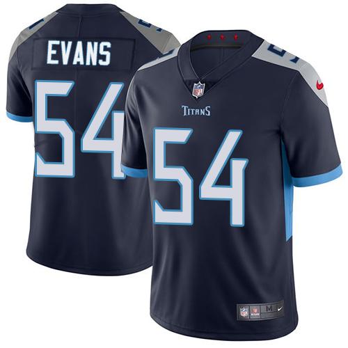 Nike Titans #54 Rashaan Evans Navy Blue Team Color Men's Stitched NFL Vapor Untouchable Limited Jersey