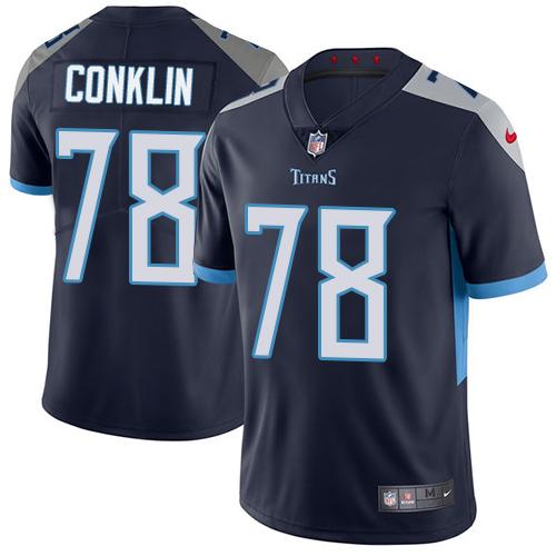Nike Titans #78 Jack Conklin Navy Blue Team Color Men's Stitched NFL Vapor Untouchable Limited Jersey