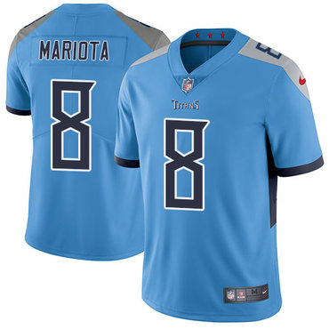 Nike Titans #8 Marcus Mariota Light Blue Team Color Youth Stitched NFL Vapor Untouchable Limited Jersey