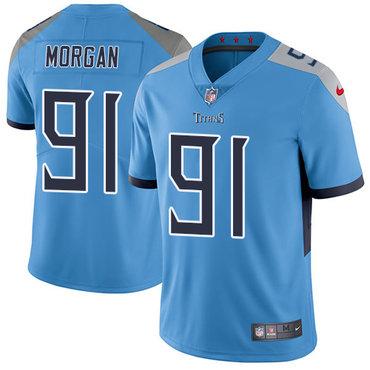 Nike Titans #91 Derrick Morgan Light Blue Team Color Youth Stitched NFL Vapor Untouchable Limited Jersey