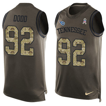 Nike Titans #92 Kevin Dodd Green Men's Stitched NFL Limited Salute To Service Tank Top Jersey