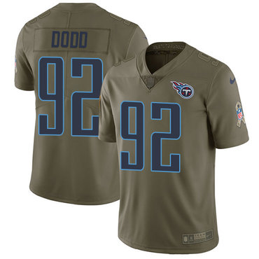 Nike Titans #92 Kevin Dodd Olive Men's Stitched NFL Limited 2017 Salute to Service Jersey
